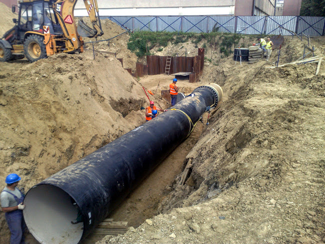 Construction of dn water supply from ductile iron
